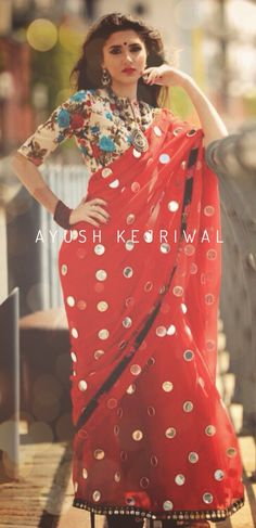 Saree by Ayush Kejriwal For purchases what's app me on 00447840384707 or email me at ayushk@hotmail.co.uk. We ship WORLDWIDE.