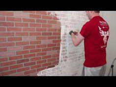 DIY Faux Brick Wall Tutorial - Friday We're in Love