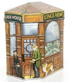 IAN LOGAN Bentleys England KINGS ARMS PUB Tin Box