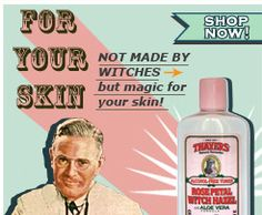 Not made by witches...so funny! Welcome to Thayer's Natural Remedies
