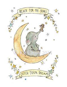 Children's Art - Catch Your Dreams - Archival Art Print