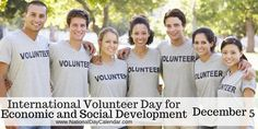 Also referred to as International Volunteer Day (IVD), December celebrates people and organizations who volunteer their time and energy. National Day Calendar, World Days, What Day Is It, Volunteer Firefighter, Giving Back, Holiday Traditions, Business News, December, Organizations