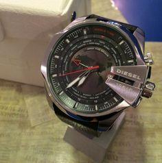 Diesel Mega Chief DZ4320 Herren Armbanduhr XL Chronograph Schwarz