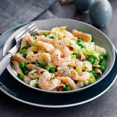 Creamy prawn and pea penne. Great for my friends on slimming world!