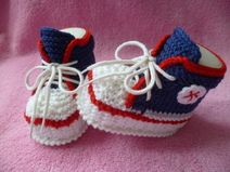 Strickanleitung Babyschuhe Sneakers Anleitung e...