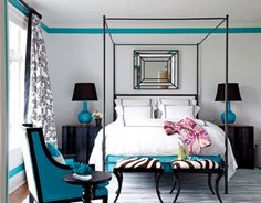 32 Rooms Beautified By Strategic Splashes Of Color ➤ http://CARLAASTON.com/designed/splash-color-spice-happy-home