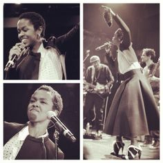 Lauryn Hill.  She looked so so pretty with that hair cut .