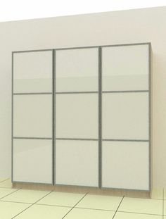 Wardrobe Door with white glass