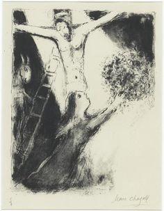 Марк Шагал -  Распятие  (c.1960) - Открыть в полный размер