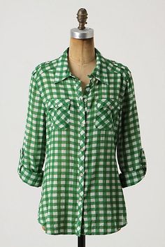 green + gingam = yes. I have this in hot pink, well from H&M, not anthro.