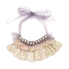 Jabot, antique lace necklace by Krista R