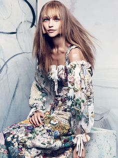 Sasha Pivovarova, Xiao Wen Ju  by Craig McDean for Vogue US November 2013 0