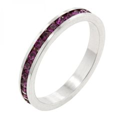 Stylish Stackables With Amethyst Crystal Ring