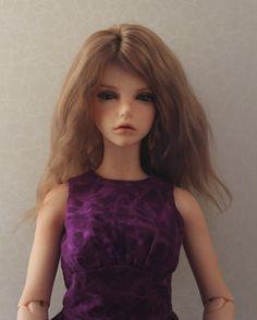 Natural Blonde Angora Wig for Iplehouse YID and similar size dolls head