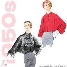 1950s Vintage Vogue: Misses Jacket Sewing Pattern. Vogue V2934
