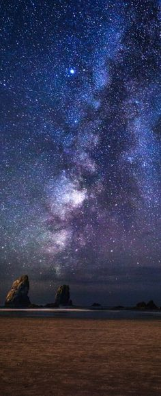 Milky Way at Cannon Beach Oregon Photography Cropped for Pinterest by Michael Matti-10