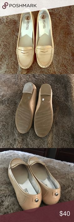 Michael Kors patent leather flats New condition ❤️️ mk taupe color KORS Michael Kors Shoes Flats & Loafers