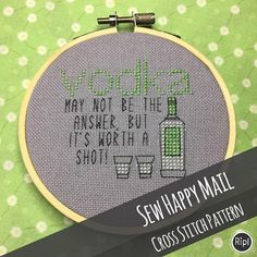 Cross Stitch Pattern  PDF  Vodka  May not be the answer but