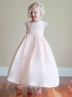 2b06e1dd64 The Darcy Flower Girl Dress in Blush Pink available in 140 pure silk  colours.