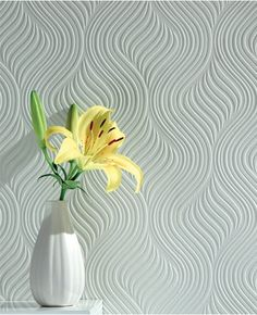 Pure Paintable Wallpaper from www.grahambrown.com - Vertical Waves