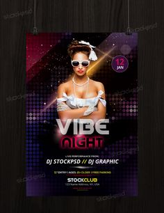 Vibe Night – Free PSD Flyer Template