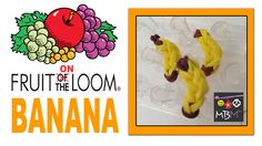 Rainbow Loom Fruit ON the Loom Charms - Banana - uses just 12 loom bands total and can be made on the Rainbow Loom, Wonder Loom, Fun Loom, Cra-z-loom or others.