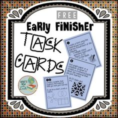 Enjoy these free early finisher task cards. These twelve cards ask early finishers to work with the material they have just learned in new and interesting ways. These activities keep students busy, but they are not busy work. They are valuable extension activities that encourage students to manipulate the material they have just learned in new and creative ways.If you like this, try these:Vocabulary Activities for Any SubjectTools for Teachers***How to get TPT credit to use on future…