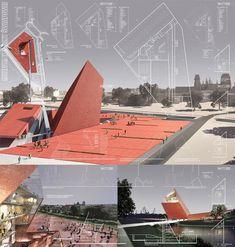 Bustler: Winning Entry for Gdańsk War Museum Auditorium Architecture, Memorial Architecture, Museum Architecture, Architecture Panel, Concept Architecture, Amazing Architecture, Landscape Architecture, Architecture Design, Architecture Graphics
