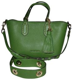 fe98e68c9423 Michael Kors Brooklyn Small True Green Leather Satchel - Tradesy Leather  Satchel, Pebbled Leather,