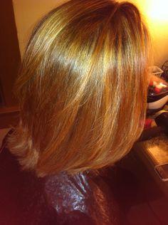 Golden caramel highlights