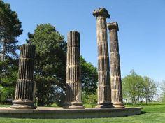 Pioneer Park Lincoln, Ne - Actual Pillars from the original US Treasury building