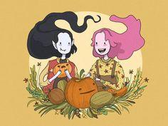 Adventure Time Princess Bubblegum Bonnibel Bonnie PB Marceline Abadeer Marcy Vampire Queen Bubbline Pumpkin