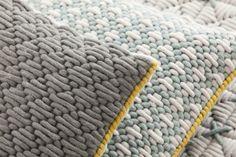Rectangular hand embroidered fabric cushion SILAÏ   Rectangular cushion - GAN By Gandia Blasco