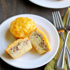 Recipe for Sausage, Egg, Cheese, & Hash Brown Muffins. Breakfast in easy, portable, single servings. Add veggies, herbs, spices, & other meats for variety.