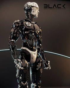 Robotic man by Ociacia #evatornadoblog #mycollection #csf #cyberspacefuture…