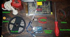 Componentes requeridos   Tira de 300 LED RGD WS2812B 5050 5M Individual Addressable 5V  Arduino uno  Furnte de corriente continua de 5V 2... Arduino, Panel Led, Blue Prints