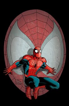 """Spider-man art by """"the Romita's (jr and sr.) and Villarubia""""."""