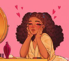 Black Love Art, Black Girl Art, Pretty Art, Cute Art, Illustrations, Illustration Art, Game Design, Arte Black, Black Girl Cartoon