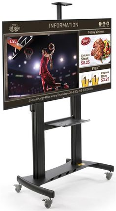 SuperSign TV w/ Media Player, Content Software & Adjustable Stand - Black Digital Signage Displays, Us Companies, Live Tv, Adjustable Shelving, Software, Advertising, Competitor Analysis, High Definition