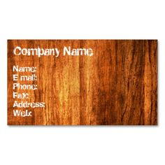 Wood Style Business Card. This is a fully customizable business card and available on several paper types for your needs. You can upload your own image or use the image as is. Just click this template to get started!