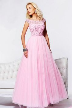 Homecoming Dresses | Tulle Beaded Pleated Pink Prom Dresses 2013 on sale on OnlinePromDress ...