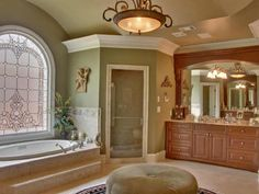 If you look at this bathroom and don't love it- you may need your eyes examined. Imagine all the color and decor possibilities!