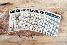 Vintage Bingo Cards by theindustrycottage on Etsy