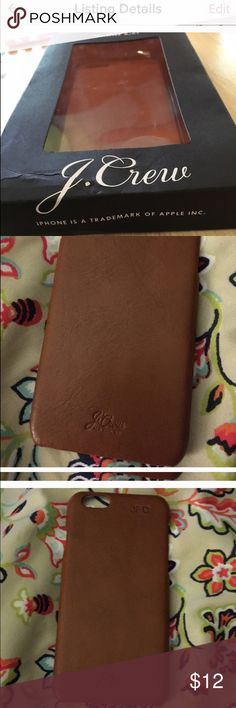 J.crew iPhone 6-6S Phone case Leather brand new never been used J. Crew Accessories Phone Cases