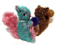 PATTERN NUTELLO Vintage Style Mohair SQUIRREL Artist by pengpengs, $11.00