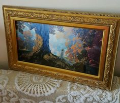 Maxfield Parrish   DREAMING  Stunning  Framed carved frame