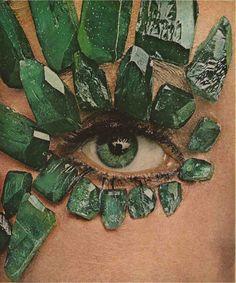 Ostrich-flutter lashes from Antonio de Paris Vogue, March 1966