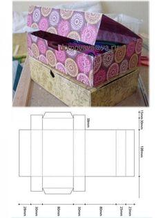 cut and fold box, Caja con patron