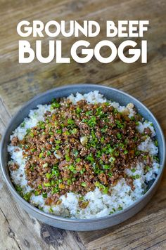 I brought a very easy yet authentic recipe, Korean Ground Beef Bulgogi! Beef Bulgogi is Korean signature bbq and I've already shared my traditional beef Spicy Miso Ramen Recipe, Ramen Recipes, Beef Recipes, Asian Recipes, Dinner Recipes, Recipies, Ground Beef Bulgogi Recipe