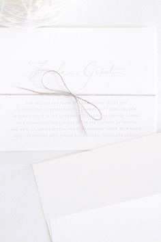 Beautifully simple and rustic letterpress invitations from Follow Studio